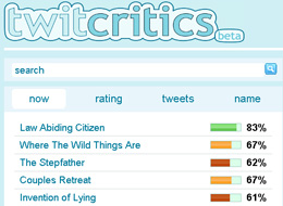 TwitCritics or how to get Movie Reviews from Twitter